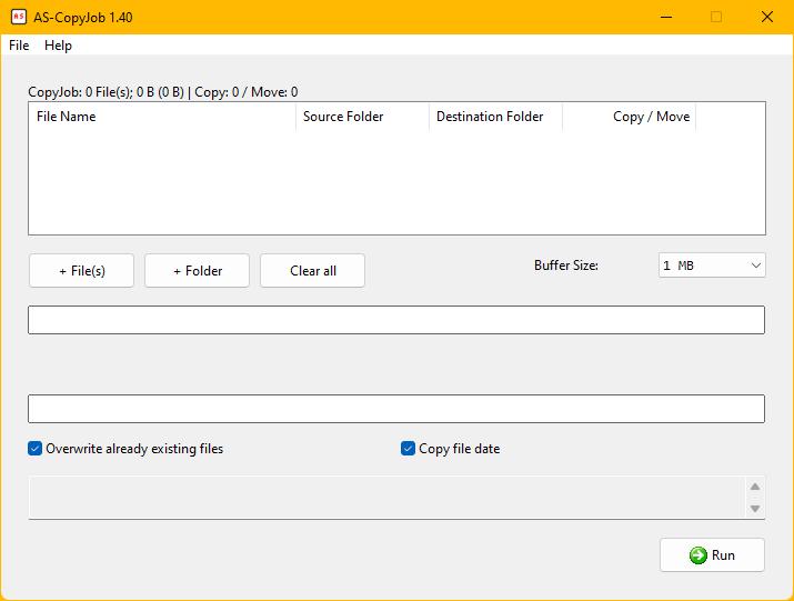 Andreas Software - Program - AS-CopyJob 1 40 - Copy and move