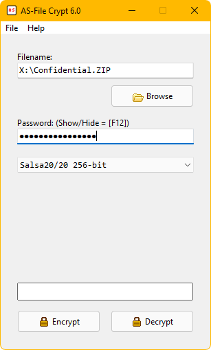 Andreas Software - Program - AS-File Crypt 6 0 - Encrypt files with